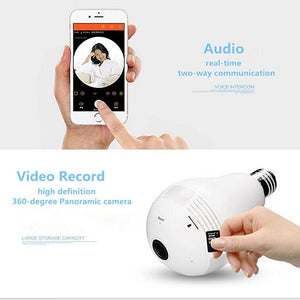 Wireless 360° HD CCTV Camera with 2 Way Audio - Security System Store