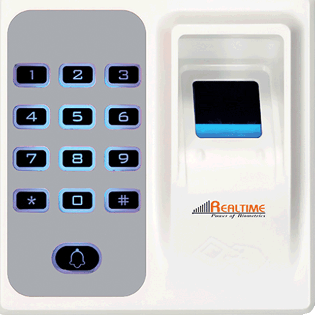 Realtime TD1D Access Control System (Finger Print +RFID+KEY P/w)