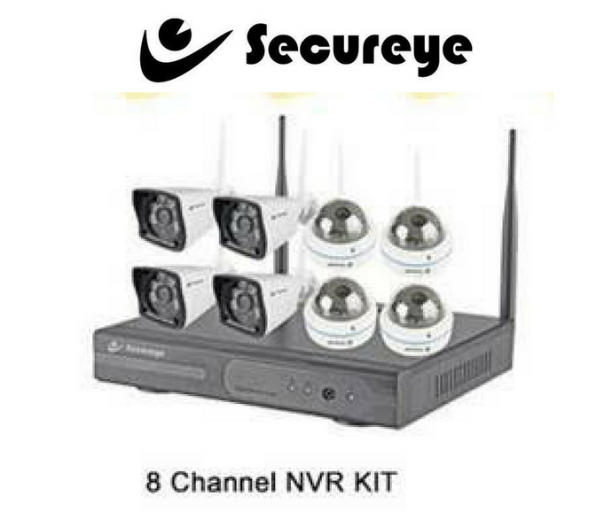 Wireless 8 CCTV Cameras with 8Ch. NVR Kit with All Accessories