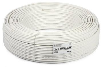 QHMPL 100% Pure Copper Coaxial 3+1 Cable 90 meters Roll. - Security System Store