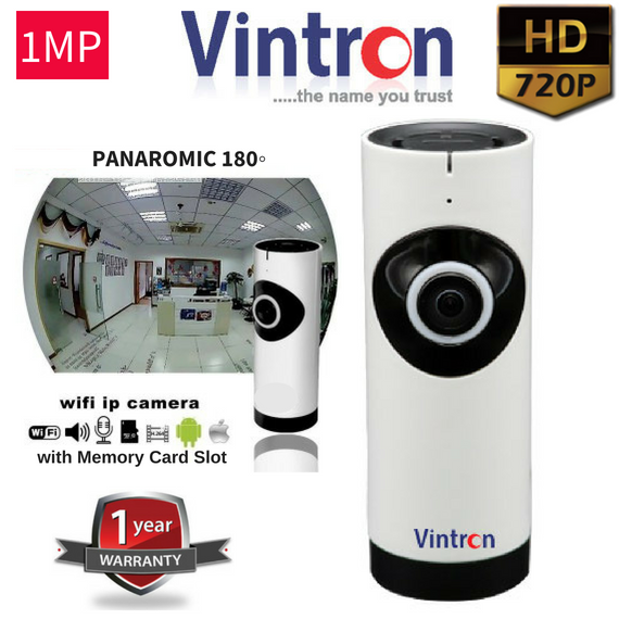 Vintron Wifi Wireless HD CCTV Camera wit Memory Card Recording Option