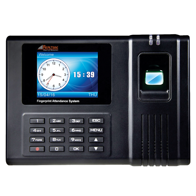 Realtime RS-10 Color Screen Attendance Recorder FP+Card+Access+TCP/IP+USB+Battery