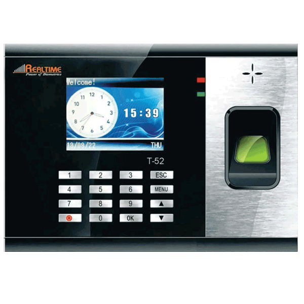 Realtime T52 Attendance Recorder With Access Control with Battery Back-up - Security System Store