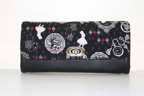 Alice in Wonderland Womens wallet, ncw, purse, clutch wallet
