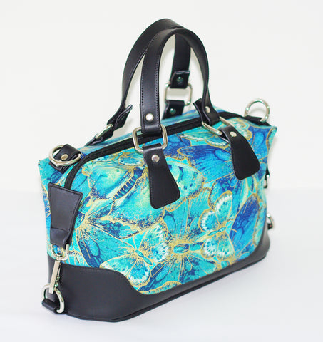 Brooklyn Handbag & NCW purse - Butterflies teal/gold