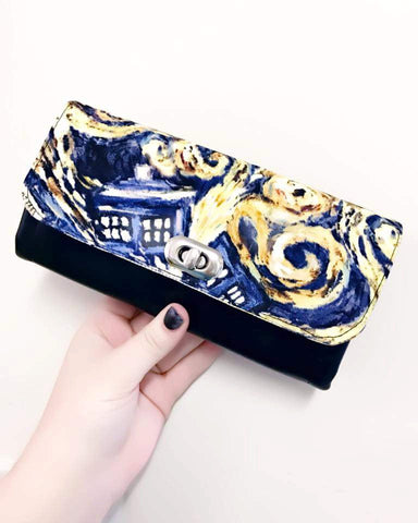 NCW - Doctor who, womens wallet, clutch purse Dr who