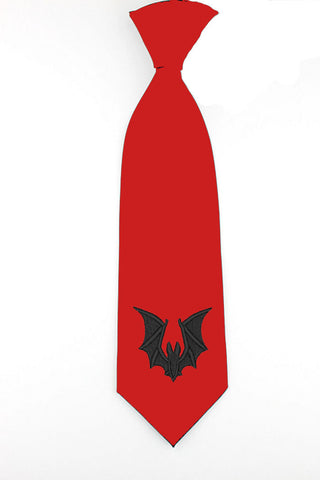 Bat gothic design necktie mens tie gifts womens skinny tie wedding