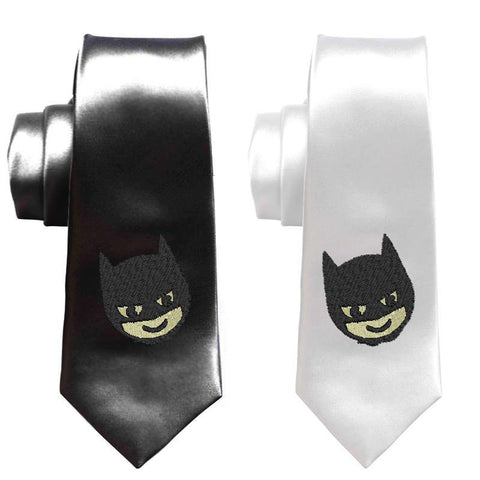 Batman superheroes men tie, batman skinny tie, comicbook geek wedding