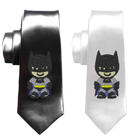 Batman superheroes men tie, batman necktie, justice league skinny tie