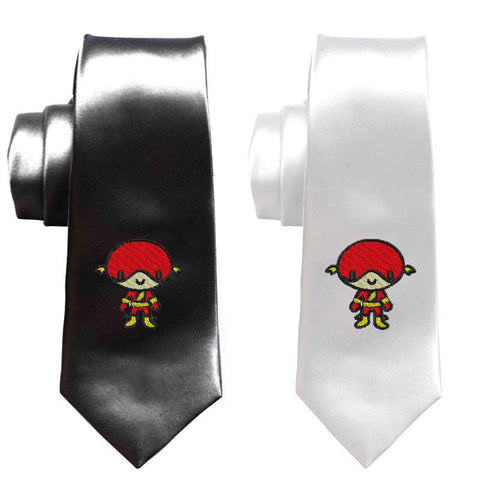 Flash superhero necktie, justice league mens skinny tie, comicbook superheroes tie, geek wedding tie, prom graduation party, the flash arrow
