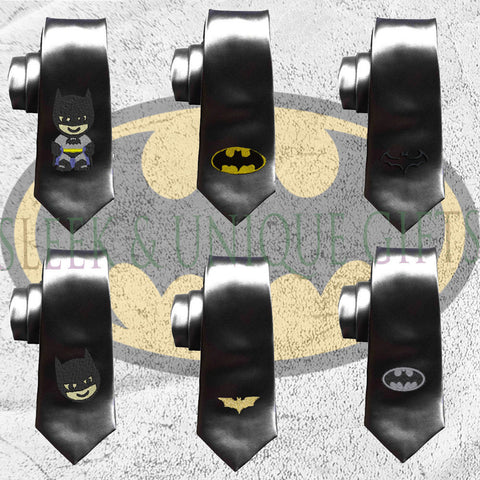 Batman tie, superheroes mens tie, batman geek wedding tie