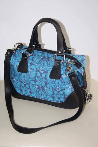 Brooklyn Handbag & NCW purse - Tula Pink mini owls blue