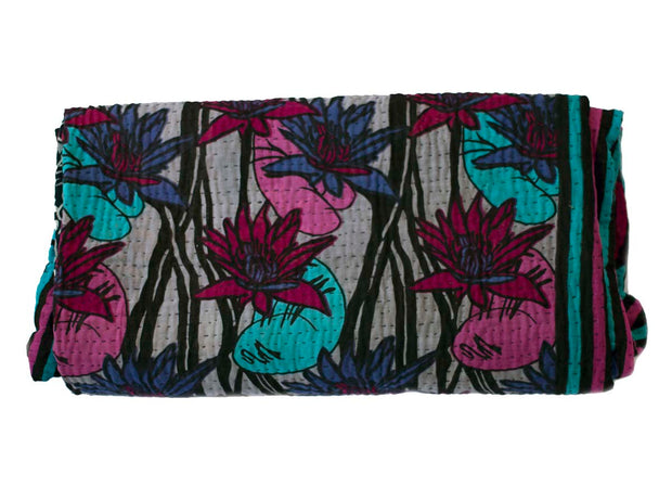 Recycled sari blanket Pintu - Large