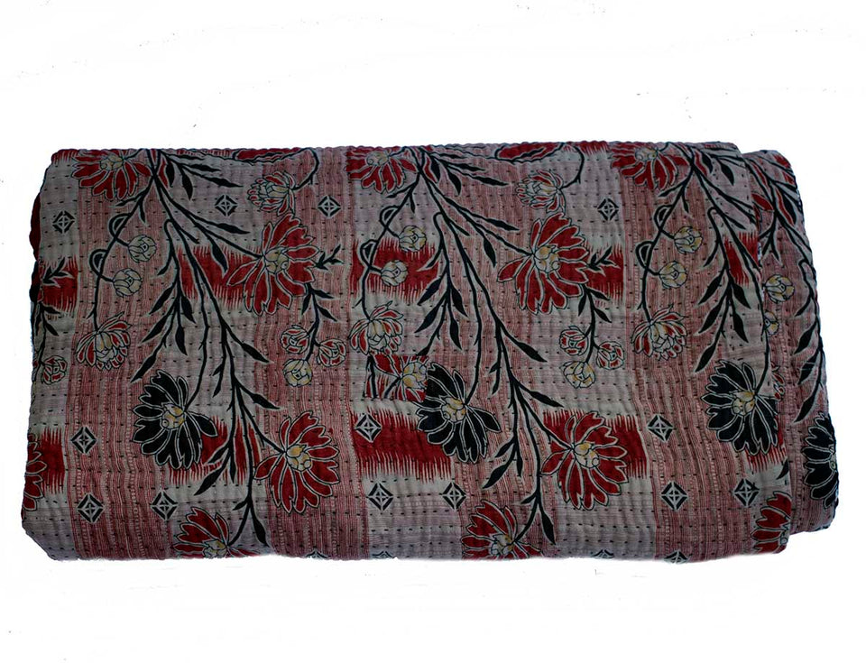 Recycled sari kantha blanket Ana- Large