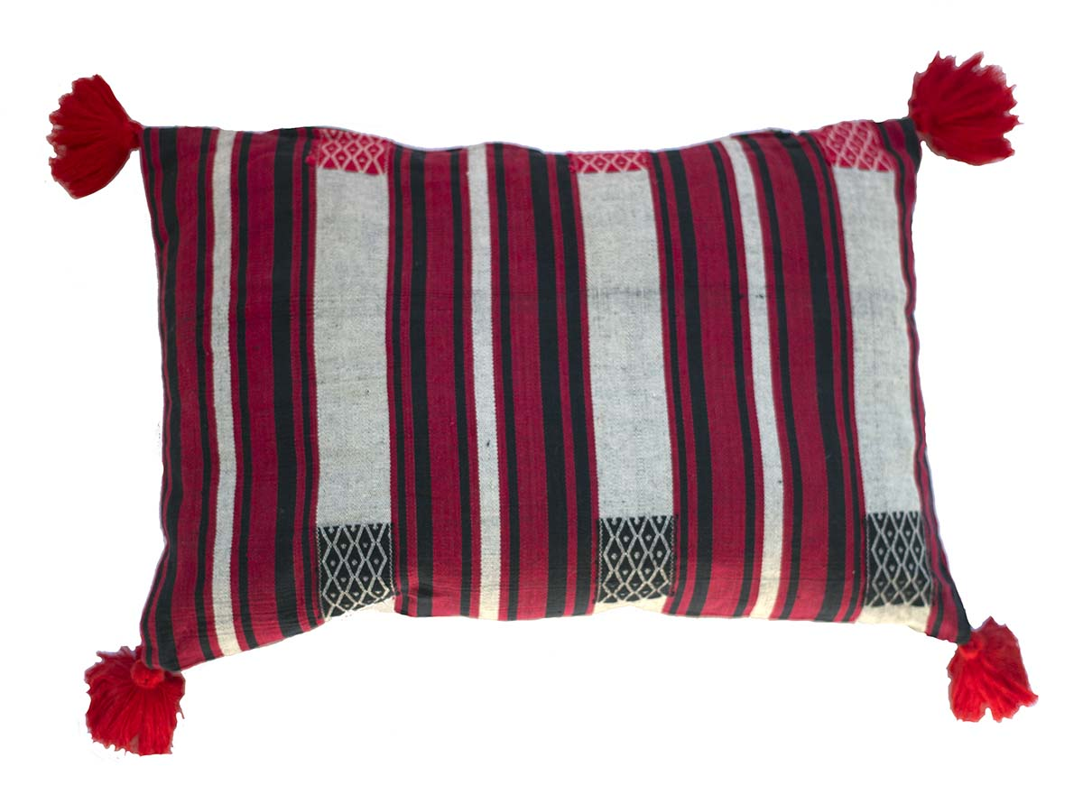 Handmade Burmese Naga cushion cover