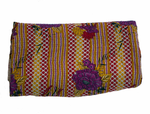 Recycled sari kantha blanket Bela - Medium