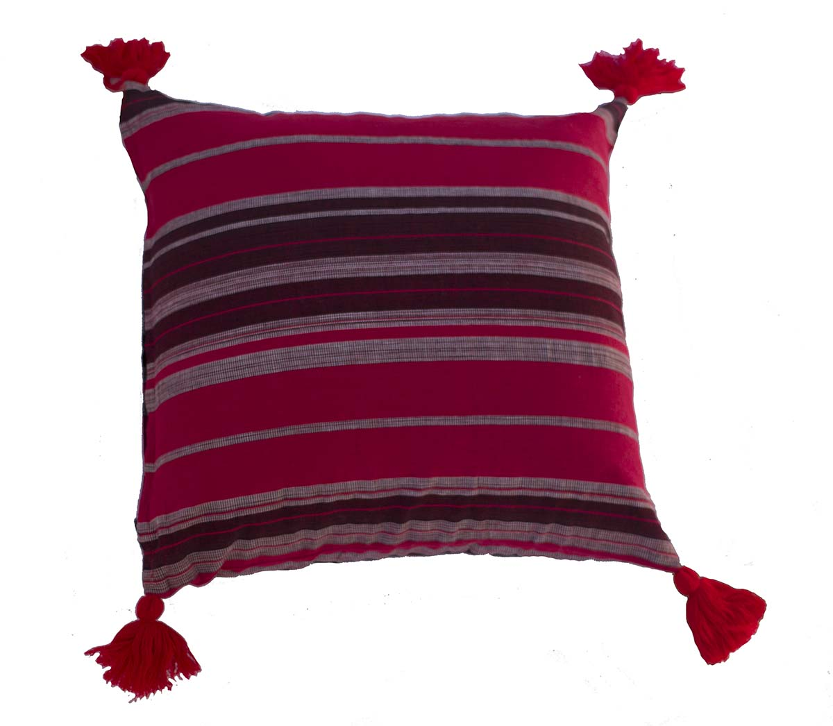 Handmade Burmese Stripe cushion cover