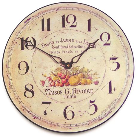 Black Frame Wall Clock With Scroll Detail