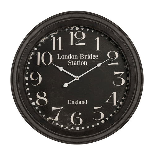 Black London Bridge Wall Clock