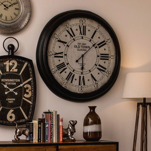Styled Classic Old Town Wall Clock