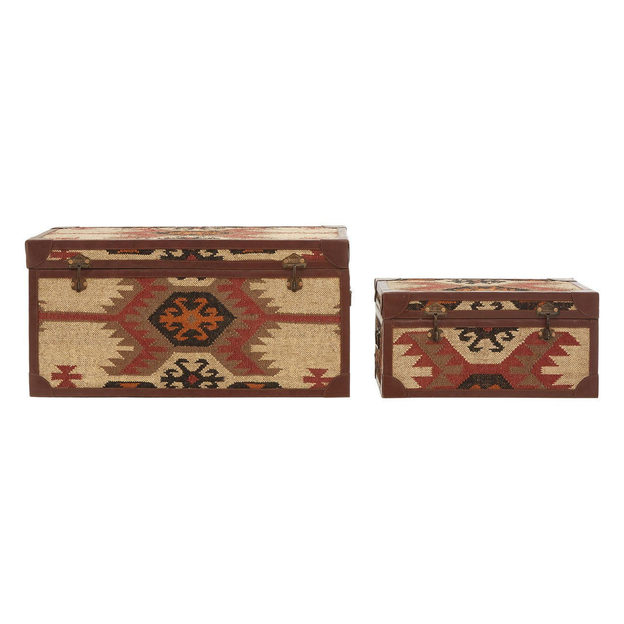 Multi Print Storage Trunks (Set of 2) Front