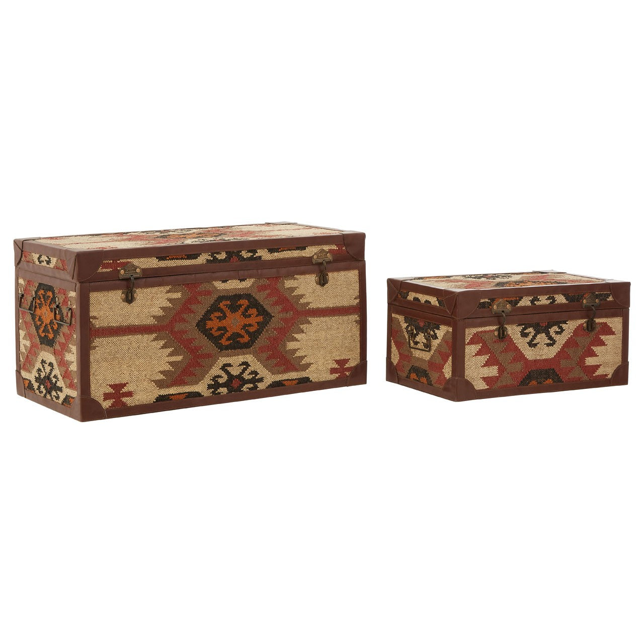 Multi Print Storage Trunks (Set of 2)