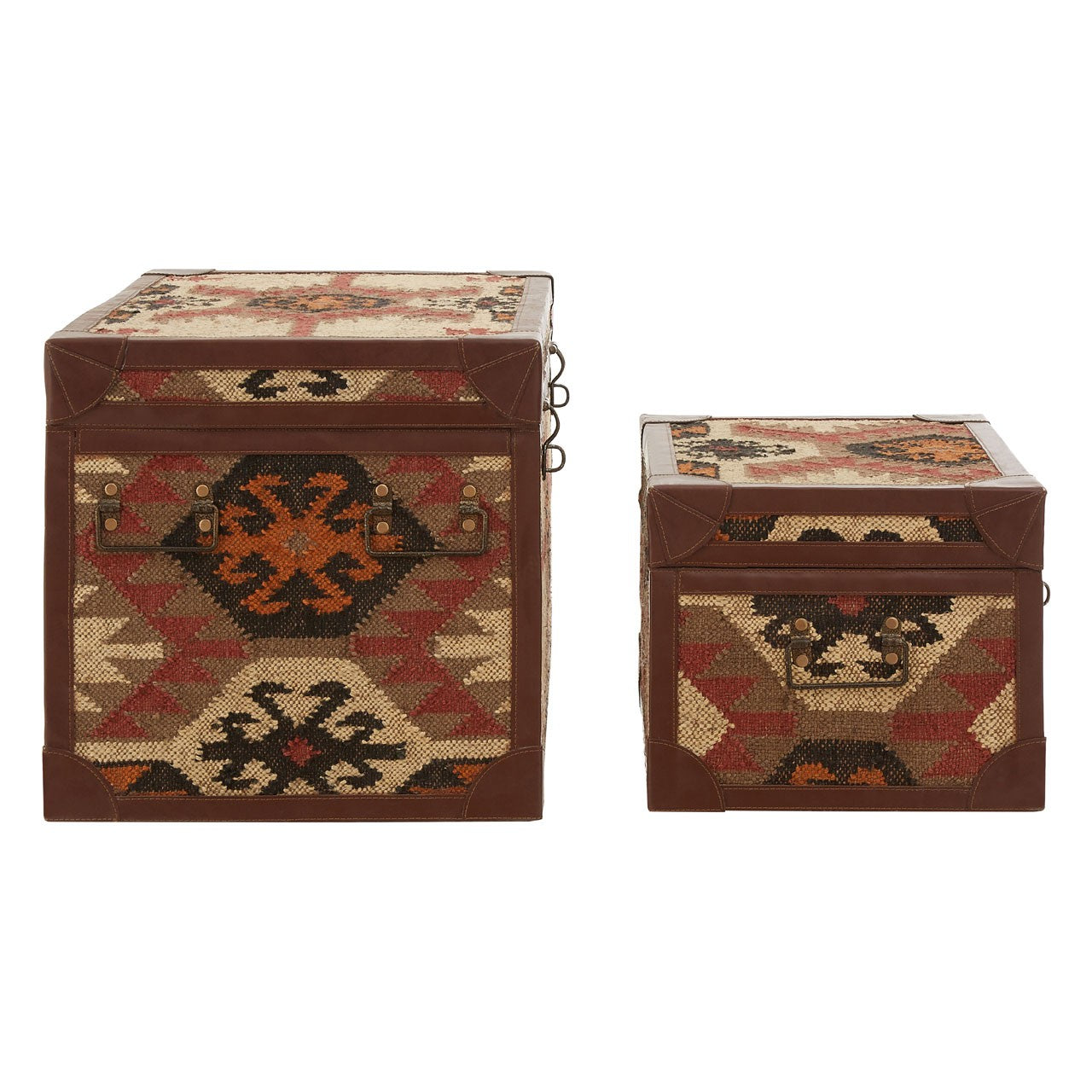 Multi Print Storage Trunks (Set of 2) Side