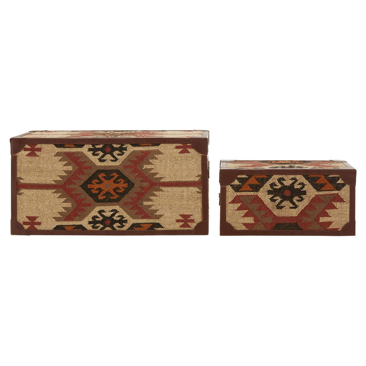 Multi Print Storage Trunks (Set of 2) Back