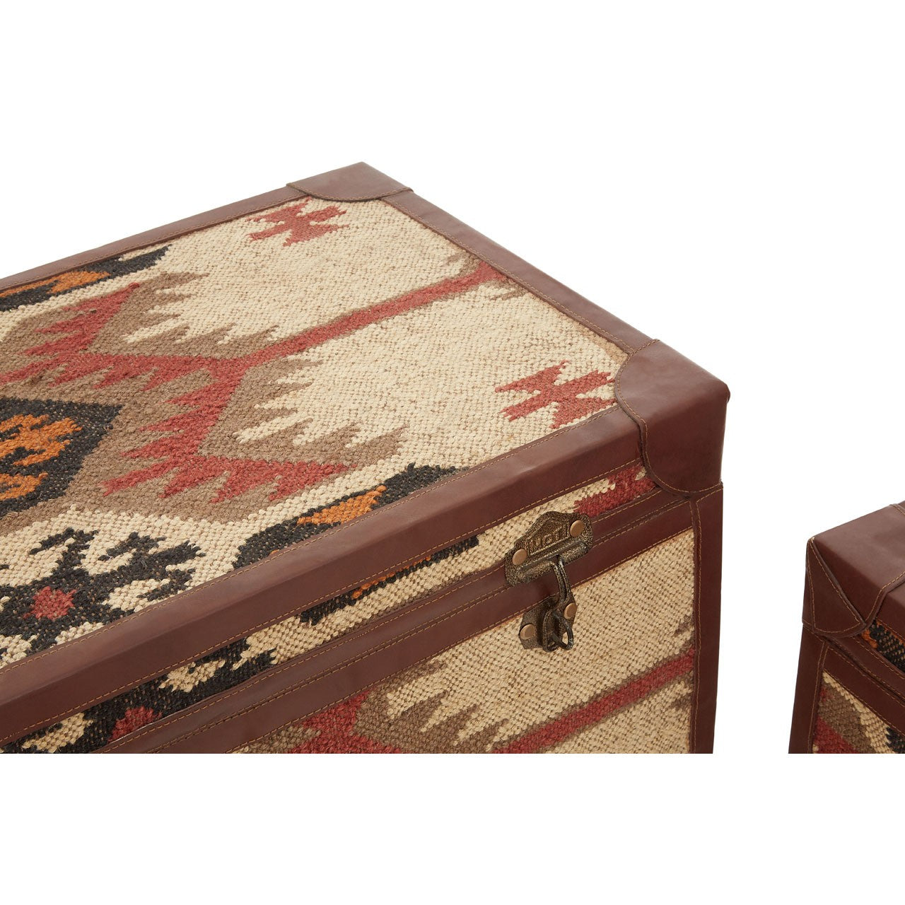 Multi Print Storage Trunks (Set of 2) Corner