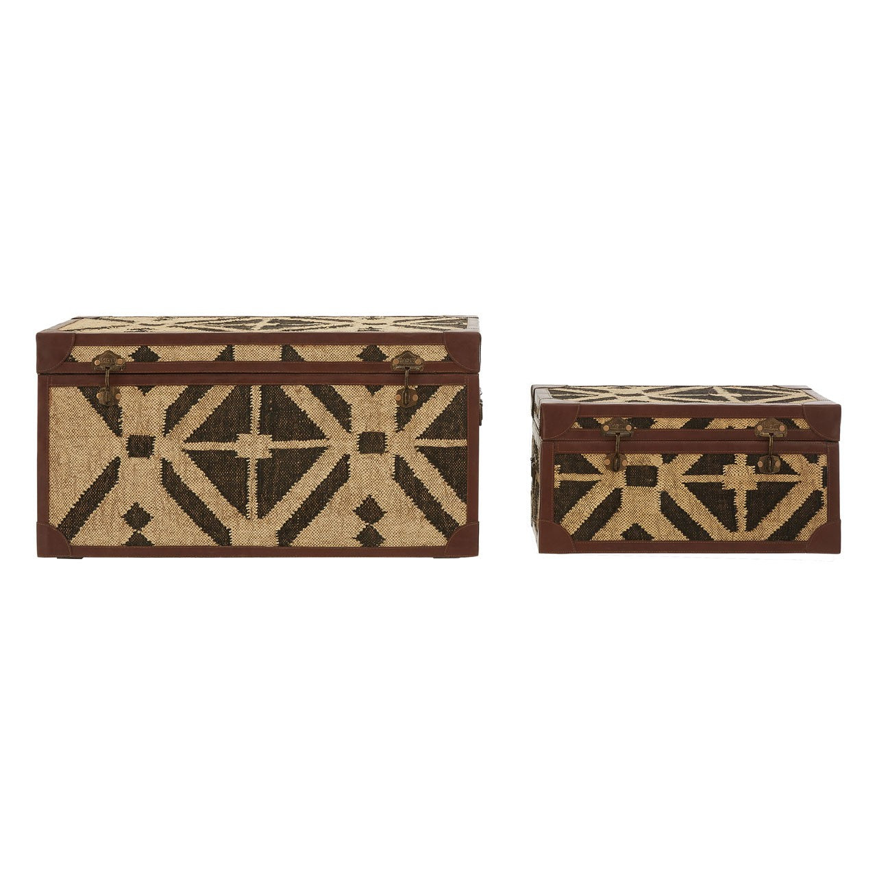 Aztec Storage Trunks (Set Of 2)