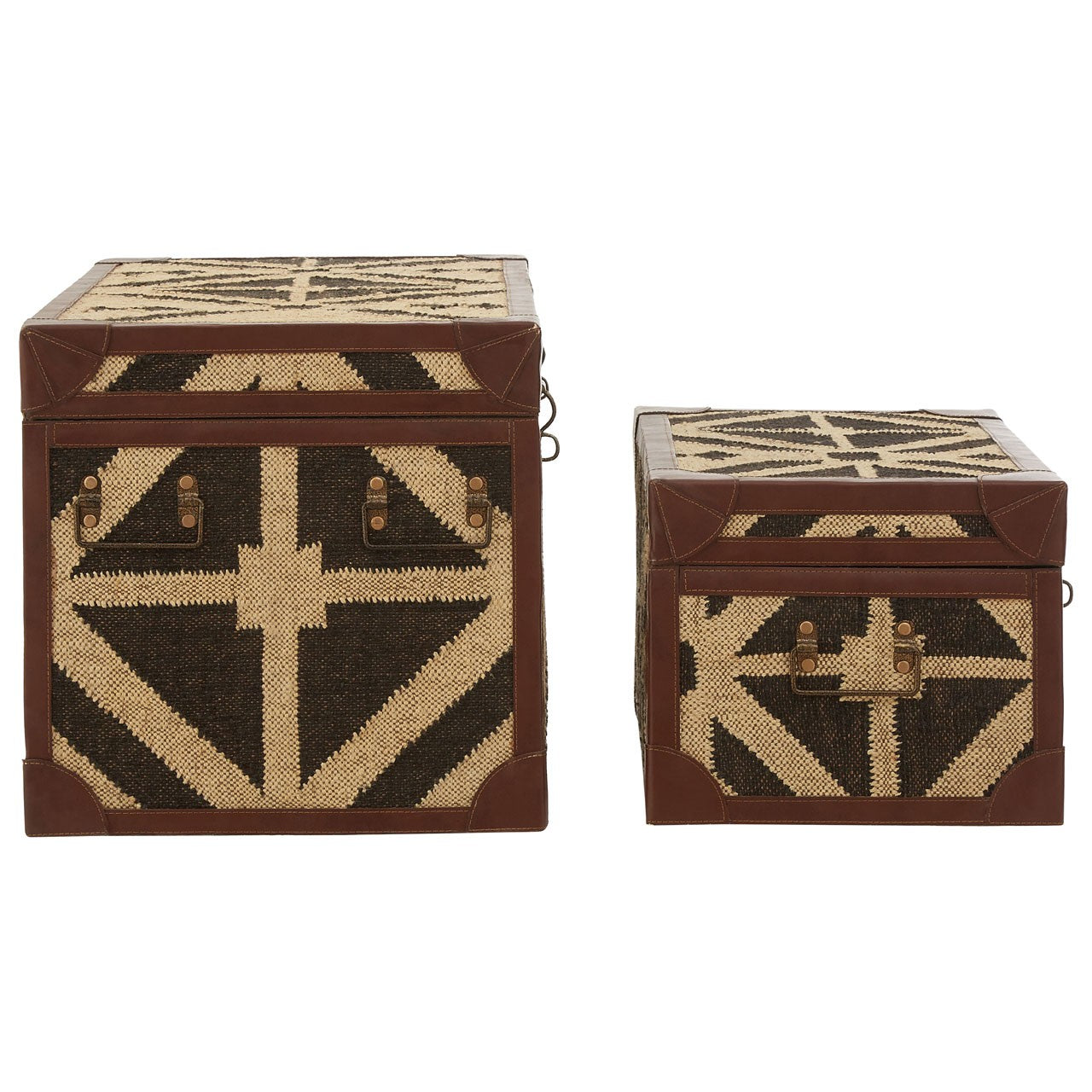 Aztec Storage Trunks (Set Of 2) - Side