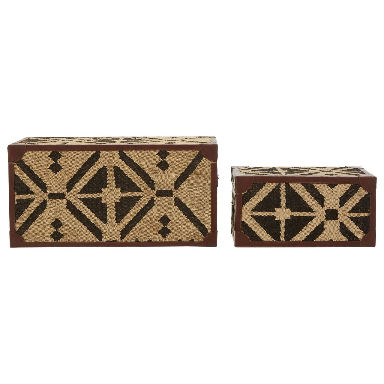 Aztec Storage Trunks (Set Of 2) - Back