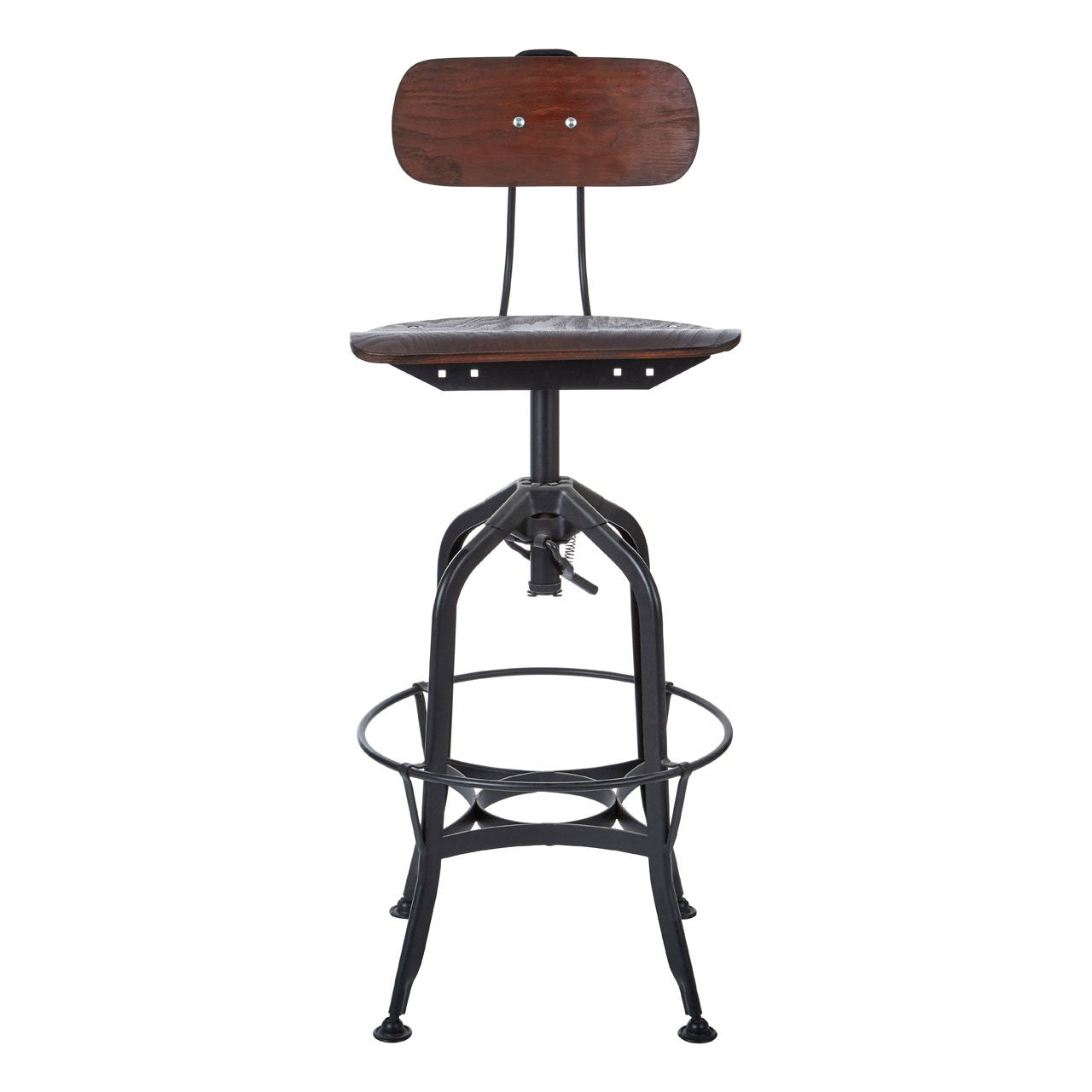 New Foundry Bar Stool (Black Finish) Front