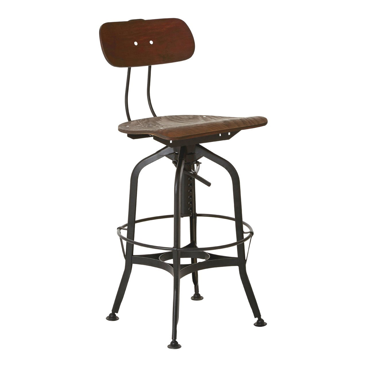 New Foundry Bar Stool (Black Finish)