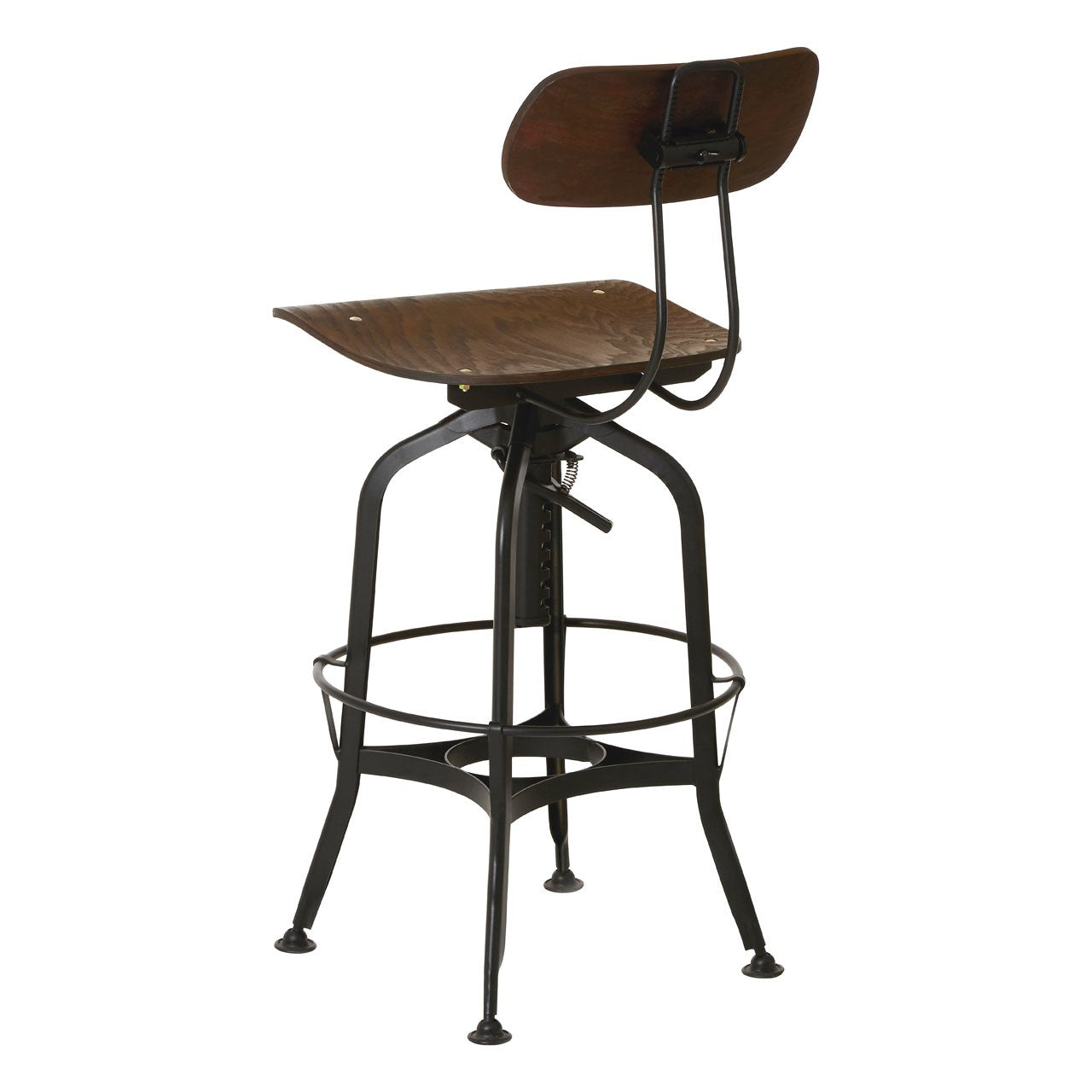 New Foundry Bar Stool (Black Finish) Back