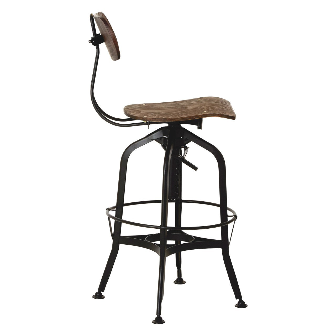 New Foundry Bar Stool (Black Finish) Side