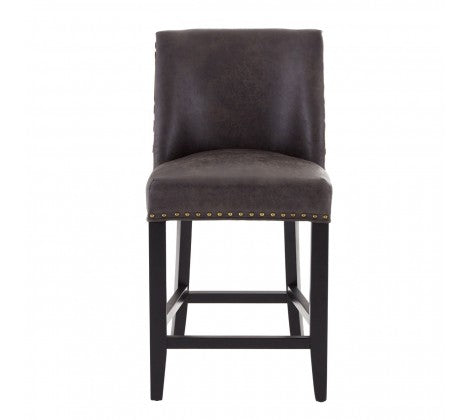 Rodeo Bar Stool Brown Leather Cowhide