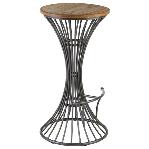 Brown Leather Rodeo Bar Stool