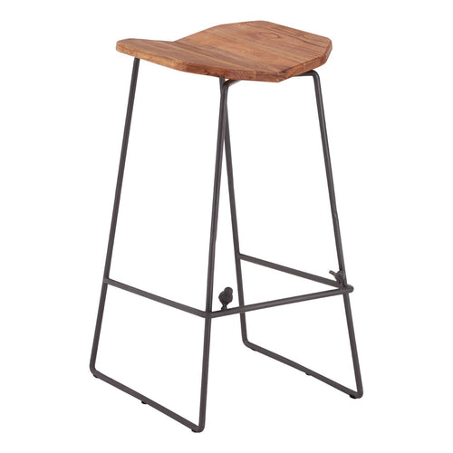 Elm Wood New Foundry Bar Stool