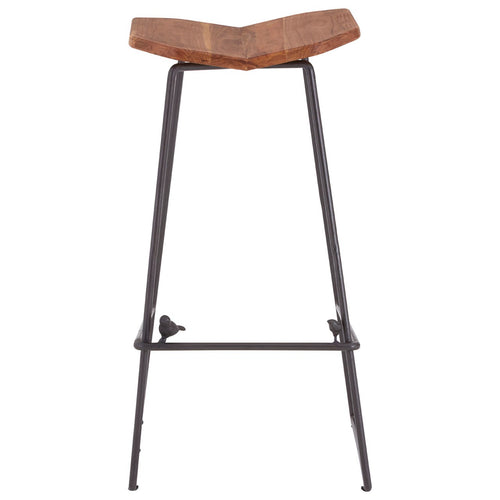 Elm Wood New Foundry Bar Stool Front