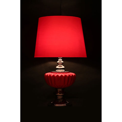 Red Luana Table Lamp