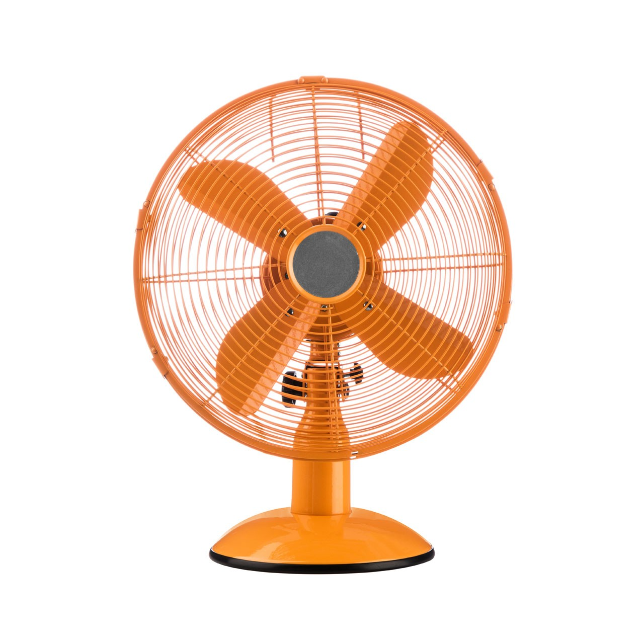 Orange Desk Fan Front