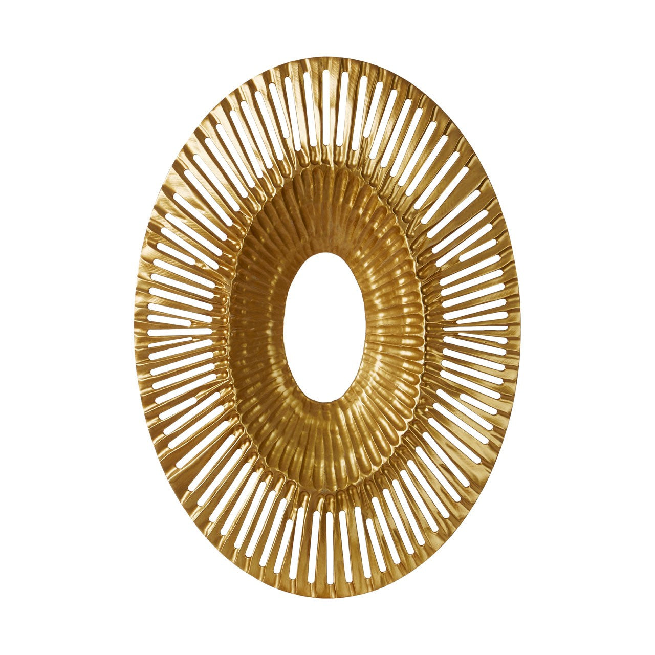 Gold Oval Wall Sculpture