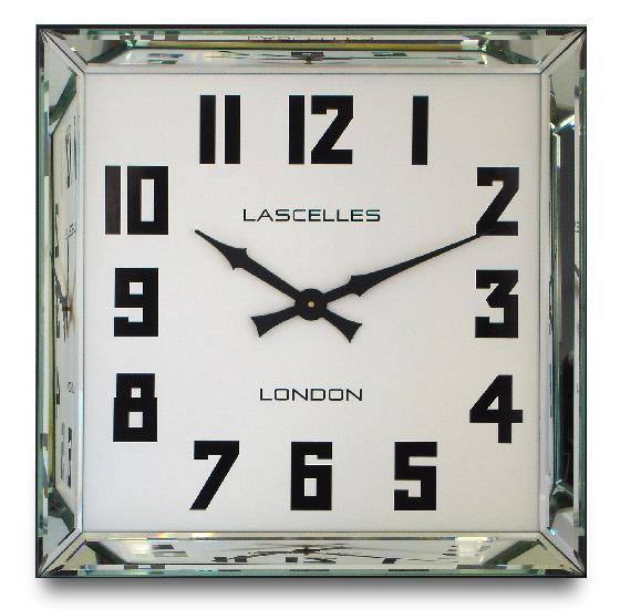 Roger Lascelles Manhattan Mirror Framed Wall Clock (60cm)