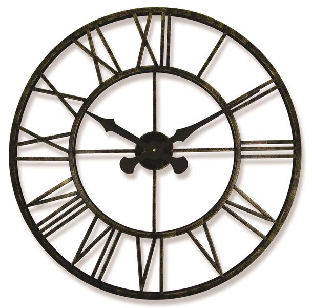 Roger Lascelles Indoor/Outdoor Clock with Metal Case (70cm)