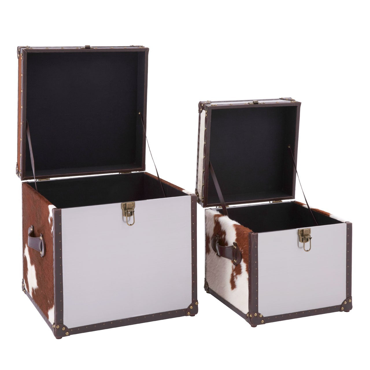 Kensington Townhouse Storage Trunks (Set of 2) Open