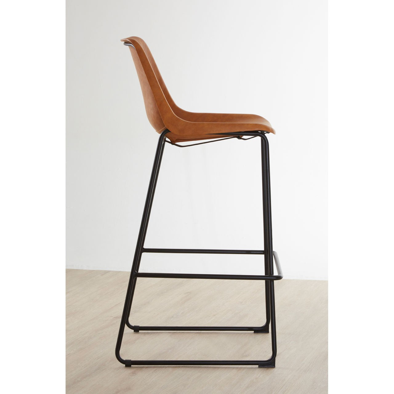 Dalston Bar Stool (Camel) - Side