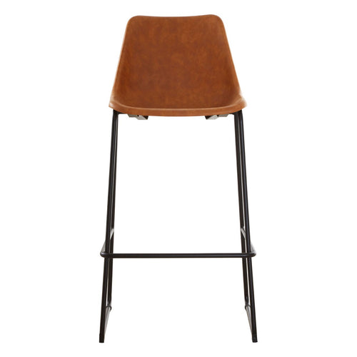 Dalston Bar Stool (Camel) - Front