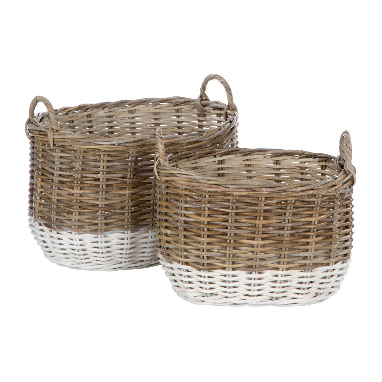 Hampstead Oval Storage Baskets (Set Of 2)