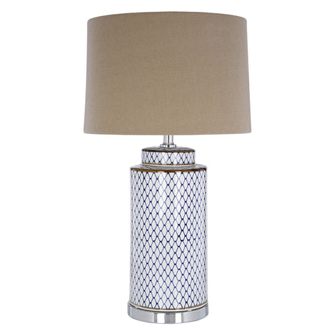 Bailey White Table Lamp